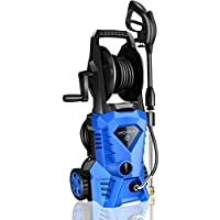 Wholesun 2.4GPM 1600W Electric Power Washer with Hose Reel and Brush (Blue)