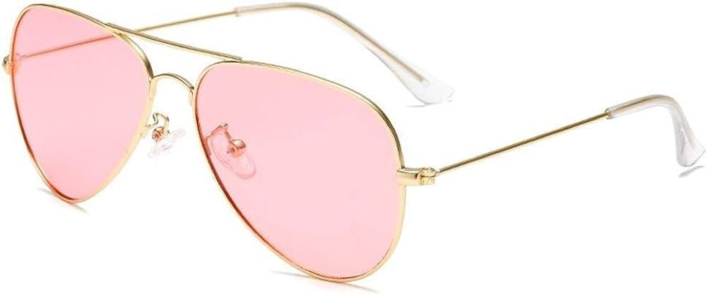GAOXUFEI Children's Ocean Polarized Sunglasses Retro Fashion Candy Color Children's Polarized Glasses UV Protection Children's Glasses (Color : Pink)