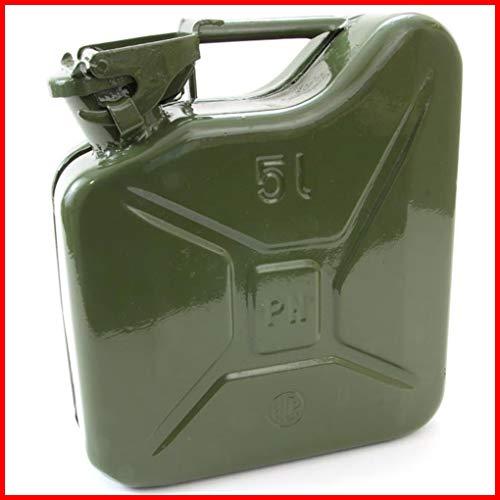 TEILE-24.EU Malinowski Benzinkanister Metall 5 L Stahlblech-Kanister Armeekanister GRÜN 5 Liter NEU
