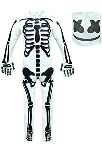 Kinderkostüm Halloween Skelett Cosplay Kostüm Jumpsuit Bodysuit Kinder Party Stil Kostüm Performance Kleidung 150
