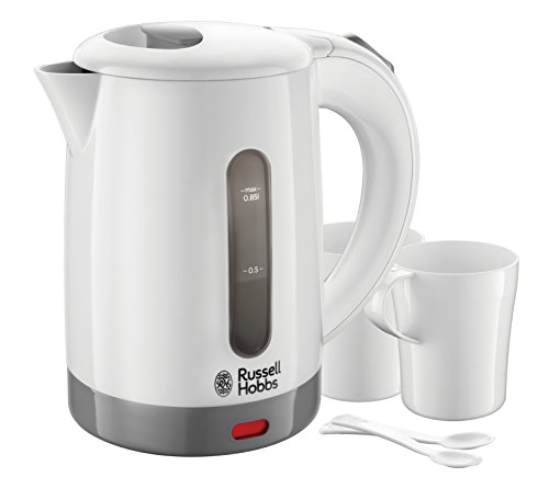 Russell Hobbs 23840 Compact Travel Electric Kettle, Plastic, 1000 W, White