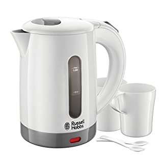 White-Grey-Russell-Hobbs-23840-Compact-Travel-Electric-Kettle-Plastic-1000-W-White