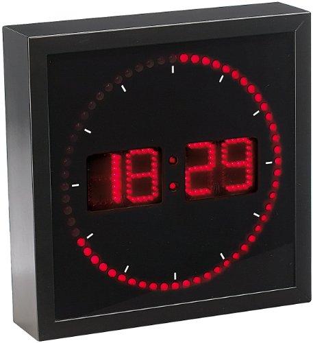 Lunartec Jumbo LED Uhr: LED-Wanduhr mit Sekunden-Lauflicht durch rote LEDs (Digital Wanduhr)