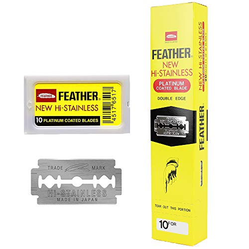 200 Feather Razor Blades NEW Hi-stainless Double Edge by Feather