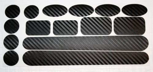 Ellis Graphix Carbon Fibre Chainstay & Frame protector set for Bicycle Bike Cycle MTB BMX. Made