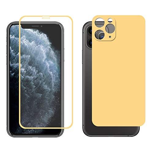 Dmtrab para Para iPhone 11 Pro MAX Hat-Prince Glue Full 0.26mm 9h 2.5d Frontal Tempered Vidrio Cobertura Completa película y película Negra con la función Protector de Lentes de cámara