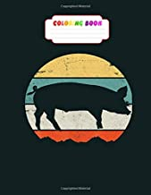 Coloring Book: pig piglet farm farmer butcher pork meat bbq lover vintage - 26 pages, 8.5 x11 inches