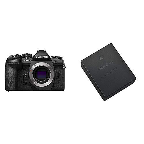 Olympus OM-D E-M1 Mark II, Micro Four Thirds Systemkamera, 16 Megapixel, 5-Achsen Bildstabilisator, elektronischer Sucher & BLH-1 Li-Ionen-Akku (1740mAh, geeignet für OM-D E-M1 Mark II) schwarz