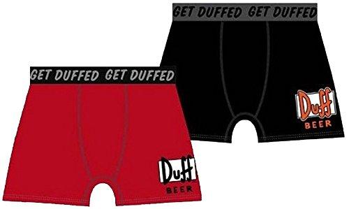 Boxer Duff Beer Rot The Simpsons rot Gr. S, Mehrfarbig - Mehrfarbig