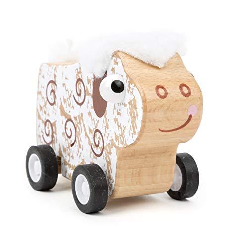Small Foot 11152 Rückzieh-Tier Schaf aus Holz, FSC 100{77f3fdde977a4b1359317aa6913d85e08339533f313f9c4e61c5f2b5f3bda1db}-Zertifiziert, hochwertiges Rückziehtier zum Aufziehen und Fahren Spielzeug, Mehrfarbig