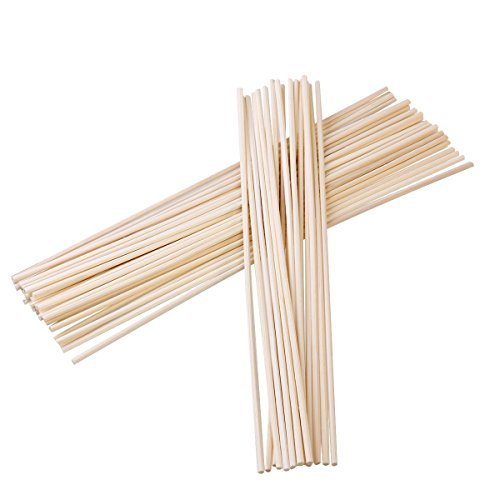 Jecengs Natural Reed Diffuser Sticks Replacement Fragrance Reed Sticks Package of 100 pcs (10in/25cm)