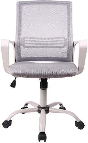 Smugdesk Office Chair, Mid-Back Breathable Mesh Office Desk Computer Desk Chair with Lumbar Support
