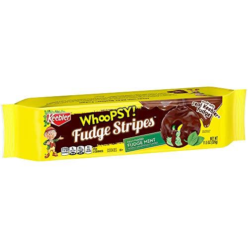 Keebler Whoopsy! Fudge Stripes Cookies, Fudge Mint, 11.5 Ounce, Pack of 12