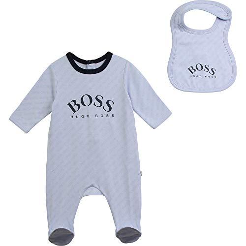 Conjunto pijama + babero BOSS BEBE pañal cielo 18 meses