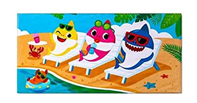 "Beach Towel Baby Shark ~ Cotton 28"" x 58"""