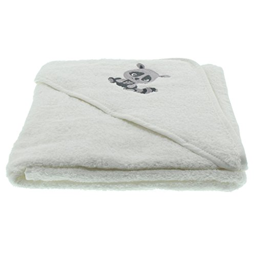 Pippi Hooded Towel W.Embroidery Echarpe, Blanc, Unique (Taille Fabricant:8383 cm) Mixte