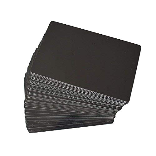 MS WGO 100pcs Laser Engraved Metal Business Cards Blanks 3.4x2.1in Thicknes (0.45mm)