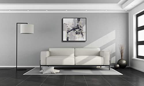 Angie Decoration Cuadro Abstracto Moderno, Acrílico, Gris, 100x4x100 cm
