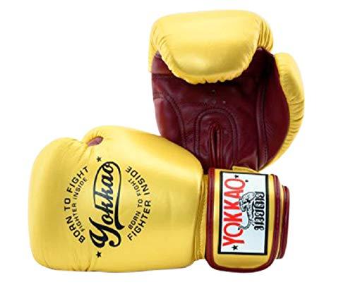 Yokkao Vintage Muay Thai Boxing Gloves Breathable Leather