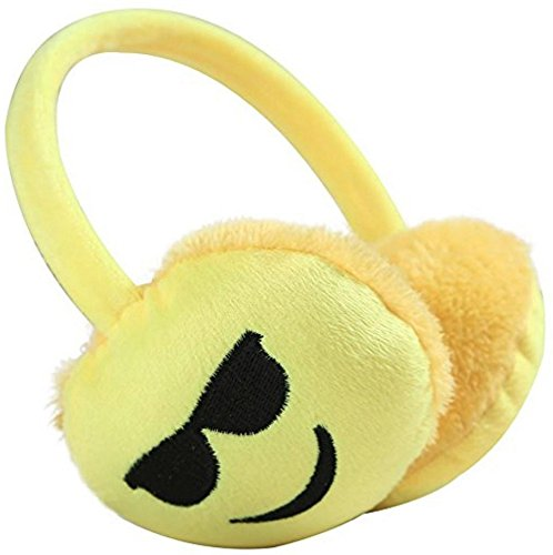 Emoji Emotion Earmuffs Ear Winter Fur Warm Accessories Adjustable Durable Unisex