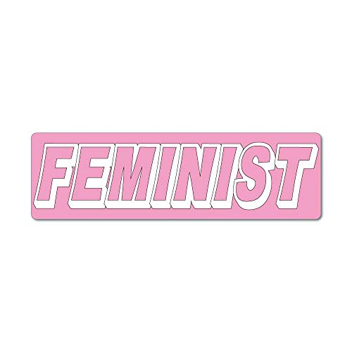 Feminist pink Banner Women Girls Female Power Typography Car Sticker Decal