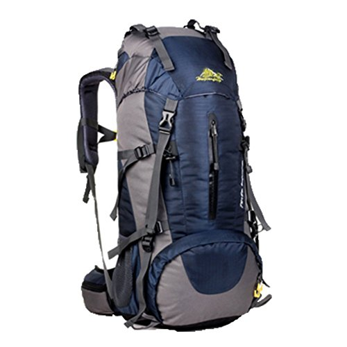 OHmais Unisexe Sac à dos Randonnée Alpinisme Imperméable Grande Contenance Escalade Trekking avec Housse de Pluie 50L en oxford Idéal pour voyage