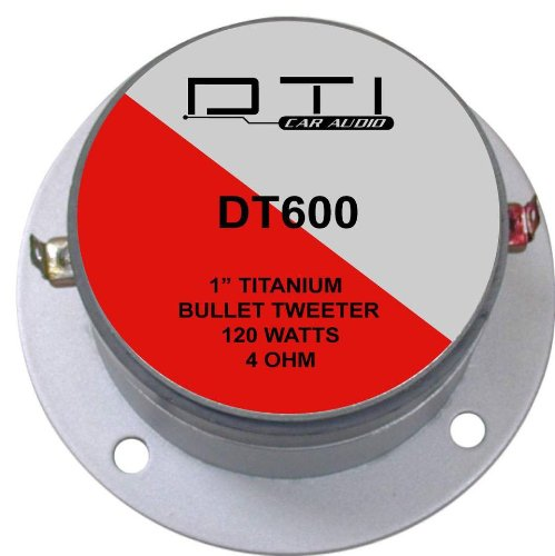 DTI Car Audio DTIDT600 1-Inch Titanium Bullet Tweeter