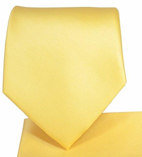 Oliver George Solid Pattern NeckTie Set (Sunflower)