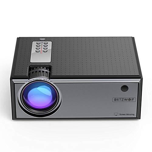 Mini Proyector Portátil Proyector LCD 2800 Lúmenes Teléfono Con La Misma Versión De Pantalla Compatible Con Entrada 1080P Proyector De Cine En Casa (Size:AU Plug; Color:Black)