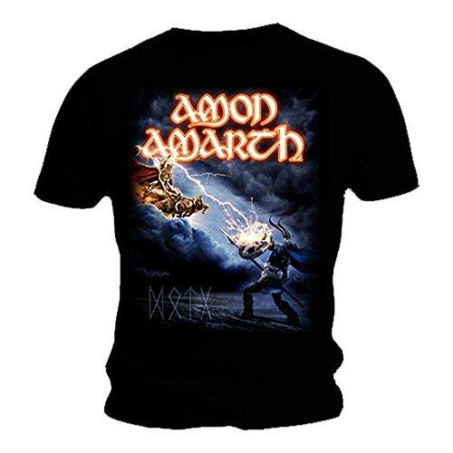 T Shirt mit offiziellem Band-Design Amon Amarth, Albumcover Deceiver of Gods, alle Größen Gr. X-Large, schwarz