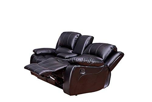 Betsy-Furniture-Bonded-Leather-Recliner-Set-Living-Room-Set-Sofa-Loveseat-Chair-Pillow-Top-Backrest-and-Armrests-8018