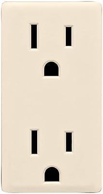 15-Amp Gold Coast White Leviton RGF15-GC Renu Self-Test Tamper-Resistant GFCI Outlet