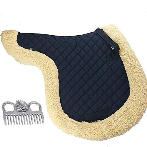 Hmpet Almohadillas para Sillas de Caballo Almohadilla para Doma Suave Sin Espalda Equipamiento para Sillas de Equitación Accesorios Ecuestres Almohadillas para Montar a Caballo,Azul