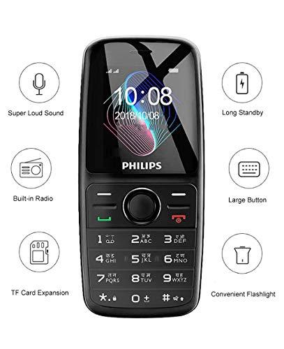 Philips Xenium E108 Dual SIM Mobile Phone-Black