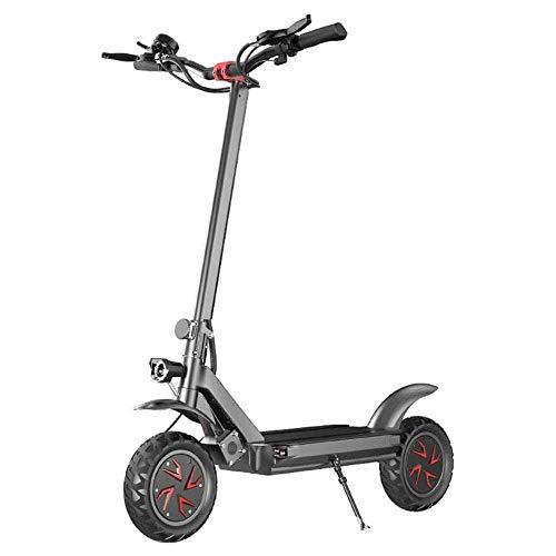 Elektrische scooter, opvouwbaar, voor volwassenen, offroad-elektrische scooter, 150 kg, maximale belasting 10 inch, 70 km/u, lithiumbatterij 52 V-21 AH-50 km 3600 W dubbele motoraandrijving