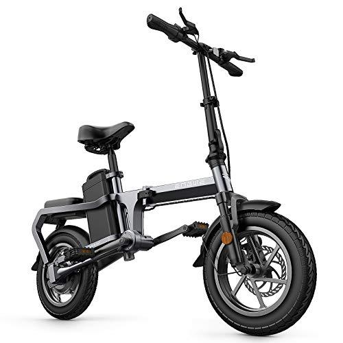 Lixada Elektrofahrrad 14-Zoll Klapprad Ebike, 350W Elektrisches Fahrrad 15AH Power Assist Moped E-Bike 80-100 km Reichweite, für Jugendliche und Erwachsene, Schwarz