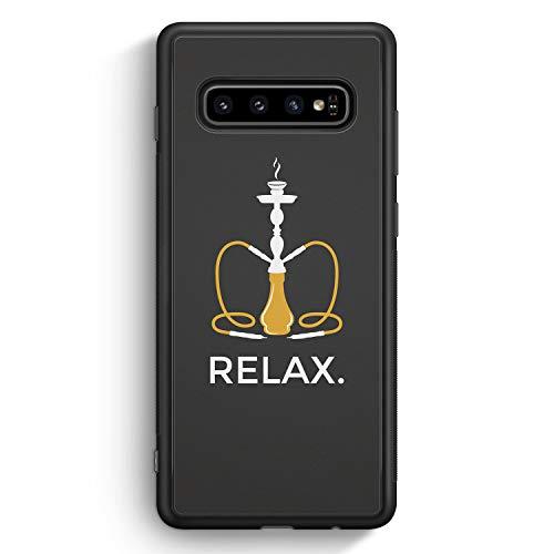 Relax. Shisha - Silikon Hülle für Samsung Galaxy S10 - Motiv Design Spruch Lustig Cool Witzig - Cover Handyhülle Schutzhülle Case Schale
