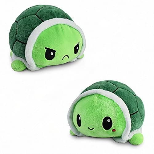 AISHNA Tortuga de peluche, tortuga de peluche de doble cara, dulce muñeca reversible juguete infantil regalo juguete de peluche pequeño tortuga juguete para niñas niños (verde)