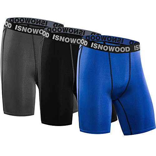 isnowood Compression Shorts for Men Spandex Running Workout Athletic Underwear