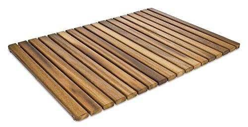 Tarima / Alfombrilla FLEXIBLE para ducha y baño, en madera de teca (50 x 70 cm)