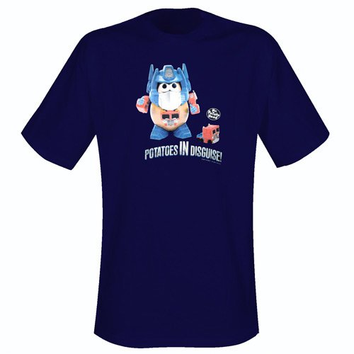 Potatoes In Disguise - T-Shirt Dark Blue (S)