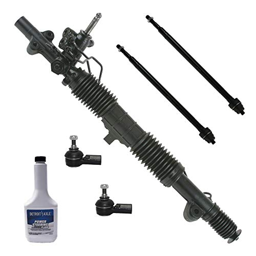 Detroit Axle - 6PC Complete Power Steering Rack and Pinion Assembly w/Inner and Outer Tie Rod Ends & Power Steering Fluid Replacement for 2001-2005 Honda Civic EXCLUDING Si, EXCLUDING Hybrid