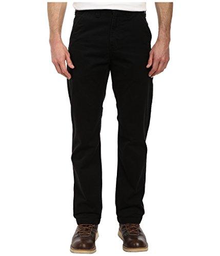 Carhartt pantaloni da uomo, vestibilità comoda, in twill con effetto slavato, W38/L32, Nero, 1