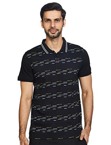 PUMA Men's Regular fit Polo Shirt (58256901 Black Large)