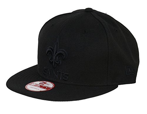 New Era New Orleans Saints Black On Black Snapback Cap 9fifty Limited Edition