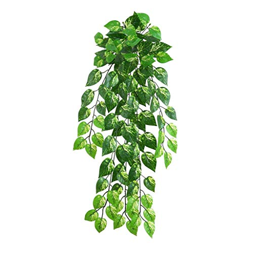 MagiDeal Artificial Ivy Leaf Garland Plants Vine False Foliage Flowers Artificial Grass Leaves for Weddings, Reception Party, Festival, Garden and Stage Decor - scindapsus Leaves 2