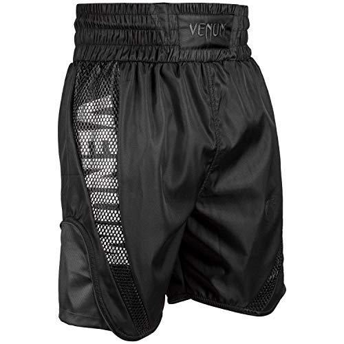 VENUM Elite Pantalones Cortos de Boxeo, Unisex Adulto, Negro/Negro, XXL