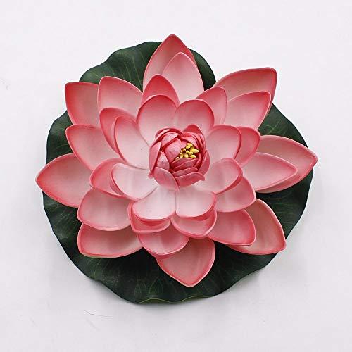 MEITAO Kunstbloem 10 stuks/set 17 cm 10 cm kunstmatige schuimstof kunstmatige lotusbloemen lotusbloem waterlelie zwembad tuinplanten decoratie 10cm Lichtroze.