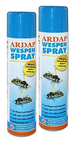 Wespenspray Ardap 2X 400ml Dose (800ml) Insektizid mit Sofort- und Langzeitwirkung zur Bekämpfung von Wespen, Wespennestern & weiteren Schädlingen