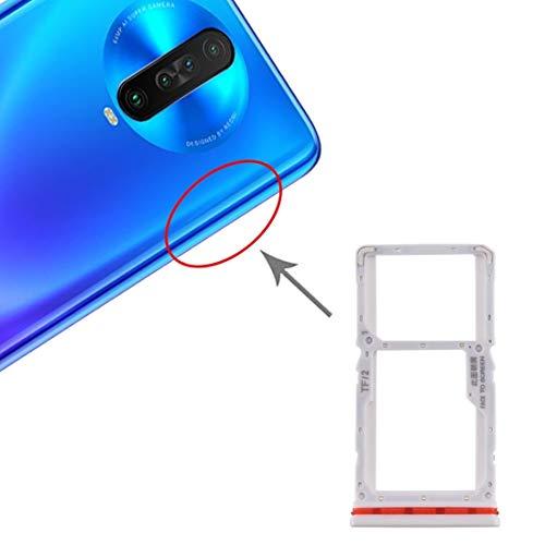 LISUHONG BMSD ACD - Bandeja para tarjeta SIM + bandeja para tarjeta SIM/Micro SD para Xiaomi Redmi K30 4G (azul) (color: blanco)